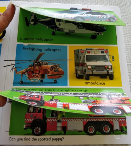 A Lift-A-Flap Book - Mighty Movers flaps
