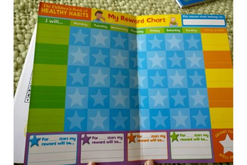 Healthy habits reward stickers