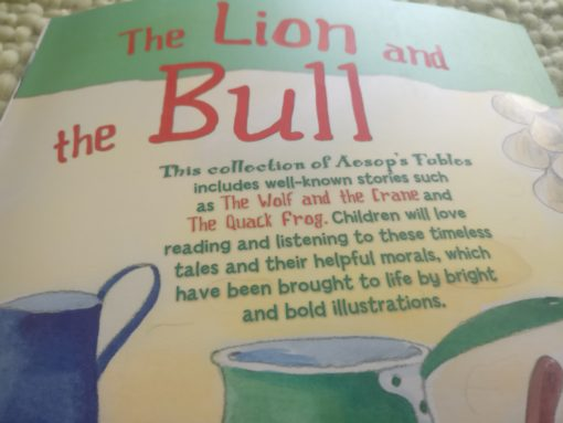 Aesop's Fables – The Lion And The Bull And Other Aesop's Fables - Back Cover