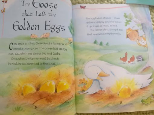 Aesop's Fables - The Goose That Laid The Golden Eggs And Other Aesop's Fables - Inside Page