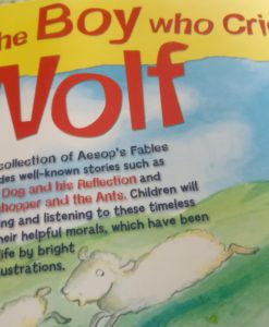 Aesop's Fables - The Boy Who Cried Wolf And Other Aesop's Fables - Back Cover