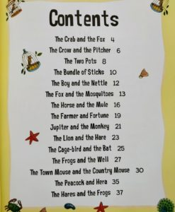 Aesop's Fables - The Town Mouse and The Country Mouse and Other Aesop's Fables - Index Contents Page