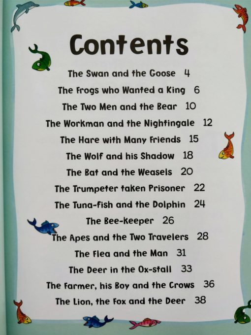 Aesop's Fables - The Wolf And His Shadow And Other Aesop's Fables - Contents Page