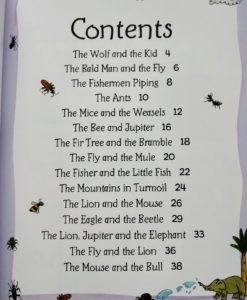 Aesop's Fables - The Mice And The Weasels And Other Aesop's Fables - Contents Index Page