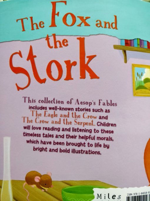 Aesop's Fables - The Fox And The Stork And Other Aesop's Fables - Back Cover