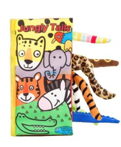 Animal Tails Cloth Book - Jungly Tails