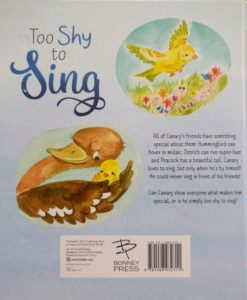 Too Shy to Sing Back Cover