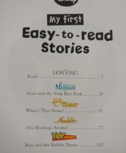My first easy to read stories - index page