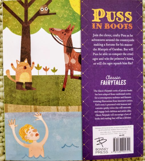 Classic Fairy Tales - Puss in Boots - Back Cover