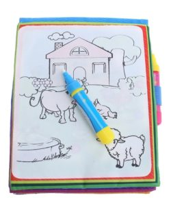 Reusable Magic water colouring book - Animals Blue - Inside1