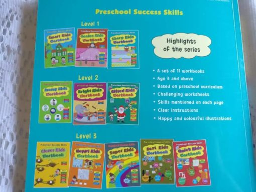 Preschool Success Skills - Sharp Kids Workbook - Level 1 - 3 years+ BackCover