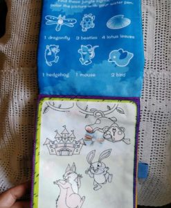 Reusable Magic water colouring book - Animals Blue - Inside2
