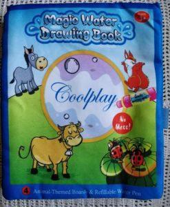 Reusable Magic water colouring book - Animals - Blue