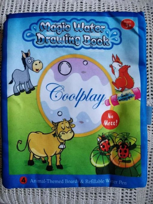 Reusable Magic water colouring book - Animals - Blue