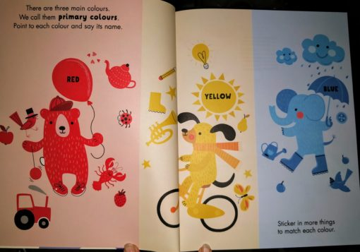Red Yellow Blue Sticker and Draw - InsidePages6