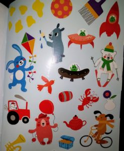 Red Yellow Blue Sticker and Draw - Stickers Page