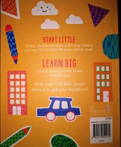 Circles, Squares, Stars - Sticker and Draw - BackCover