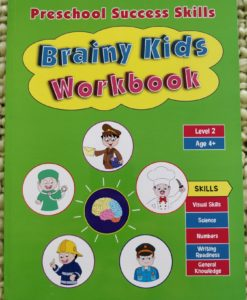 Preschool Success Skills – Brainy Kids Workbook – Level 2 – 4 years+ CoverPage