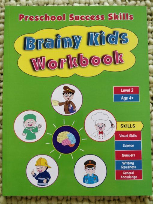 Preschool Success Skills – Brainy Kids Workbook – Level 2 – 4 years+ CoverPage