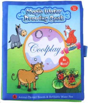 Reusable Magic water colouring book - Blue Animals