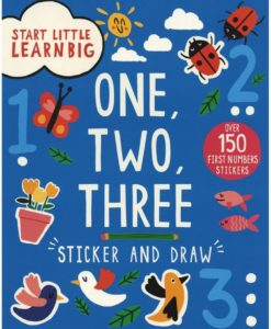 Start Little Learn Big - One, Two, Three - Sticker and Draw - CoverPage