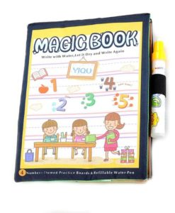 Reusable Magic Water Colouring Book Numbers Cover