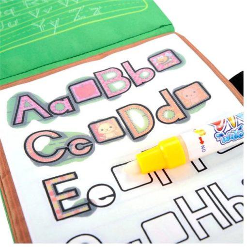 Reusable Magic Water Colouring Book Alphabet Inside1