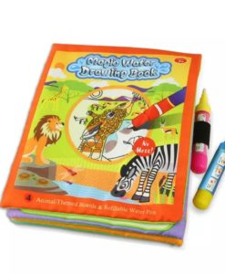 Reusable Magic Water Colouring Book Animals - Orange - Cover