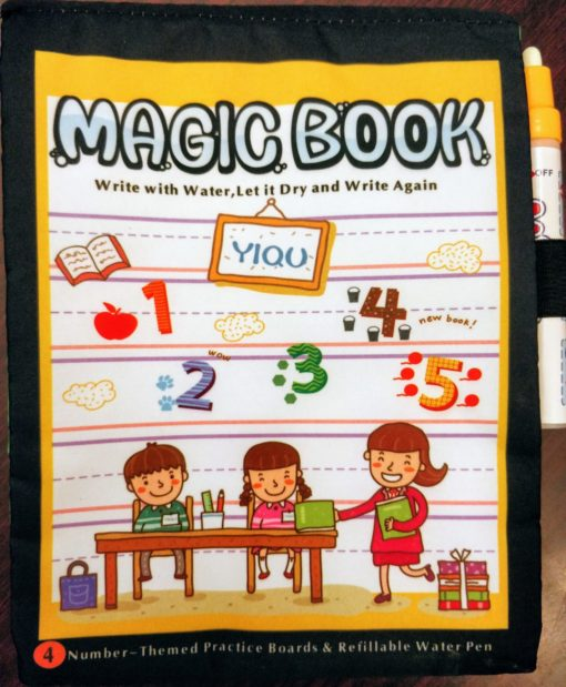 Reusable Magic Water Colouring Book Numbers Cover2