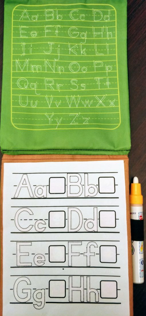 Reusable Magic Water Colouring Book Alphabet Inside4