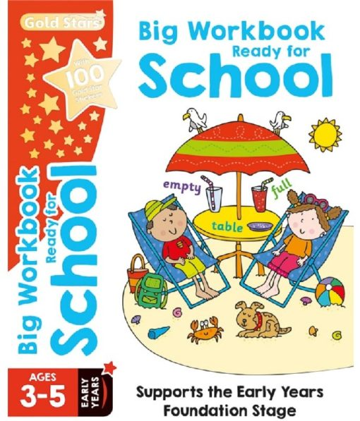 Gold Stars Big Workbook Ready for School Ages 3-5 Cover