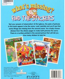 What's Missing? Find the Stickers back cover