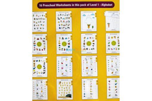 Alphabet Worksheet Level 1 Age3 9788184991680-inside pages