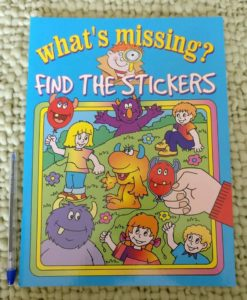 What's Missing? Find the Stickers Cover