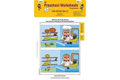 Fine Motor Skills Worksheets Level 1 Age3 9788184991628