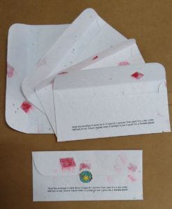 Seed Paper Gift Envelopes (Pack of 5) Tomato