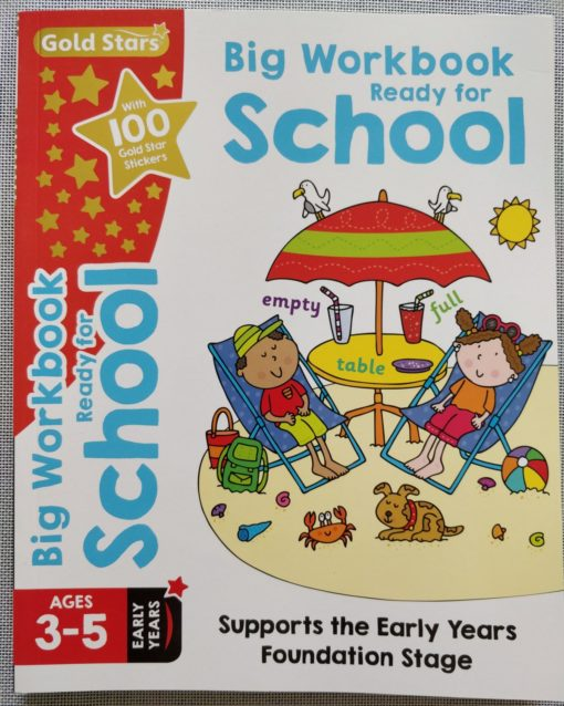 Gold Stars Big Workbook Ready for School Ages 3-5 Cover3