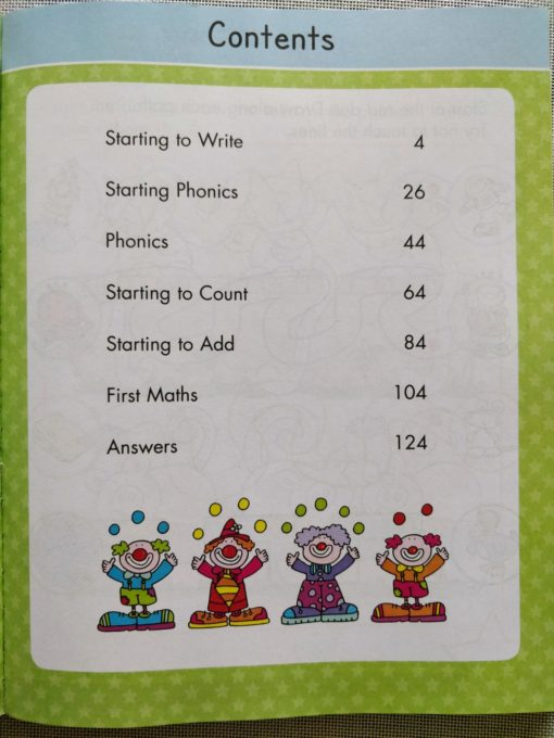 Gold Stars Big Workbook Ready for School Ages 3-5 Index Page