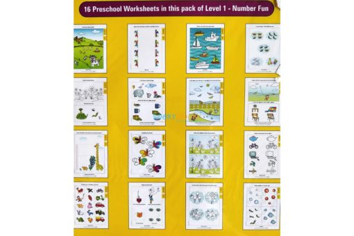 Number Fun Worksheets Level 1 Age3 9788184991291-inside pages