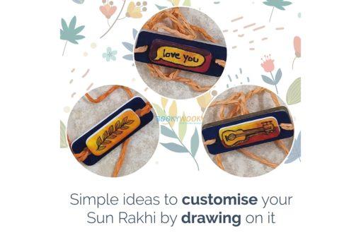 Plantable Seed Rakhi - Sun Rakhi - decorate