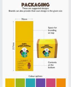 Plantable Seed Rakhi kit personalization