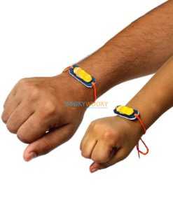 Plantable Seed Rakhis worn on adult and child's hand