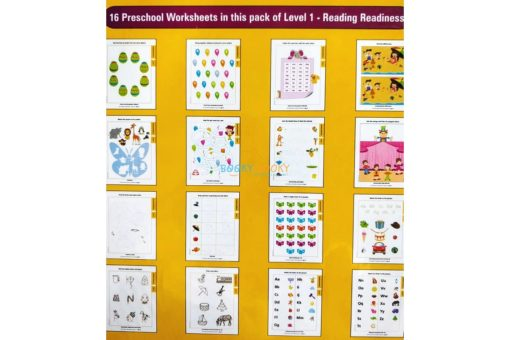 Reading Readiness Worksheets Level 1 Age3 9788184991567-inside pages