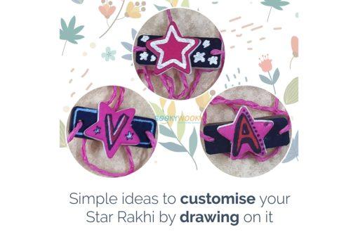 Seed Rakhi Star Shape decorate