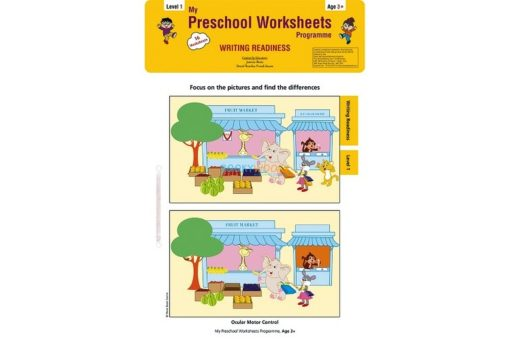 Writing Readiness Worksheets Level 1 Age3 9788184991475