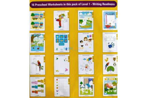 Writing Readiness Worksheets Level 1 Age3 9788184991475-inside pages