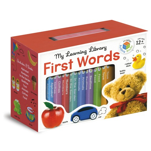 My Learning Library First Words - Front of the box by by Hinkler Building Blocks - 9781743678138