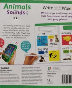 Write and Wipe Animals with Sounds Back Cover
