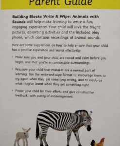Hinkler Building Blocks Write and Wipe Animals with Sounds Parent Guide