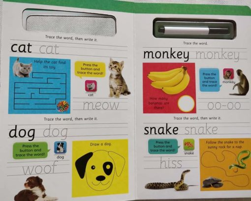 Hinkler Building Blocks Write and Wipe Animals with Sounds Inside1